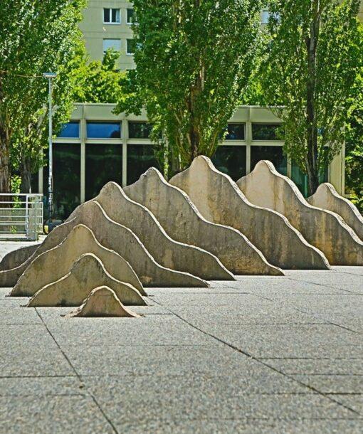 Berge Skulptur sommer
