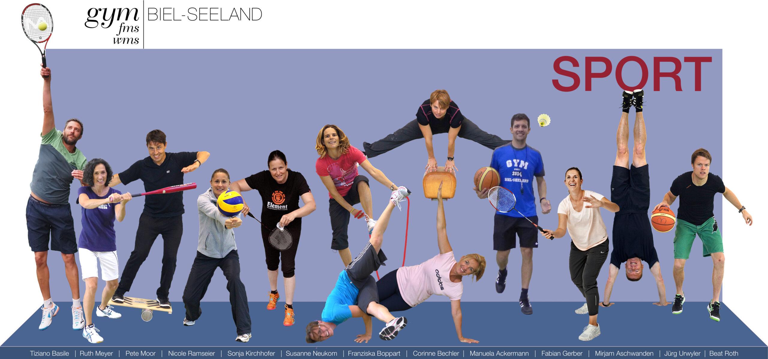 Team Sportlehrpersonen Gymnasium Biel-Seeland